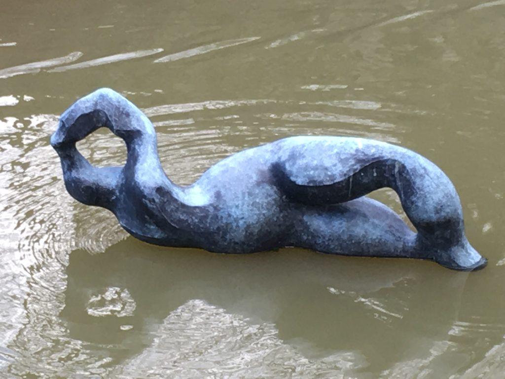 La Nageuse sur l'eau des Douves d'Onzain